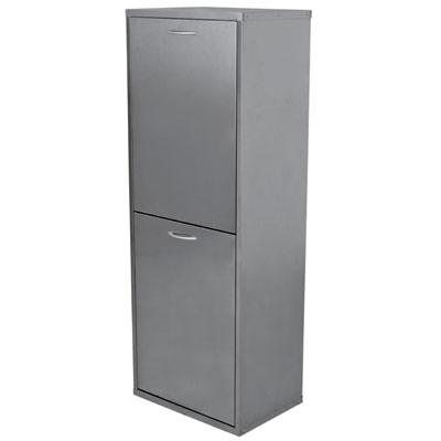 mobiletto-mobile-lamiera-raccolta-differenziata-2-cassetti-grigio