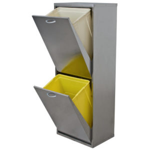 mobiletto-mobile-lamiera-raccolta-differenziata-2-cassetti-inox