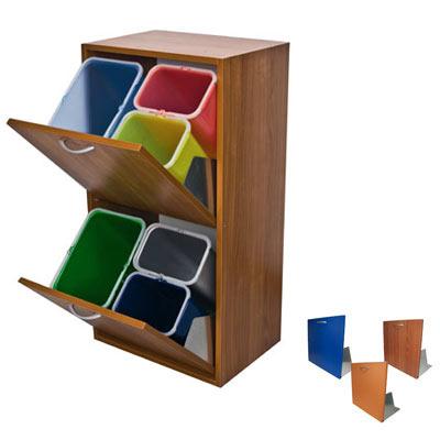 mobiletto-mobile-legno-raccolta-differenziata-interni-2-cassetti-ciliegio